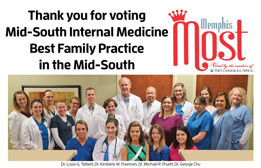 Mid-South Internal Medicine Voted #1 Best Family Practice in the Mid